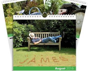 Personalised Gardening Calendar - Desktop Calendar