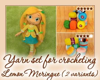 Yarn set for crocheting Lemon Meringue