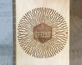 Kitchen Spells Wooden Binder | Handmade | Recipe Binder