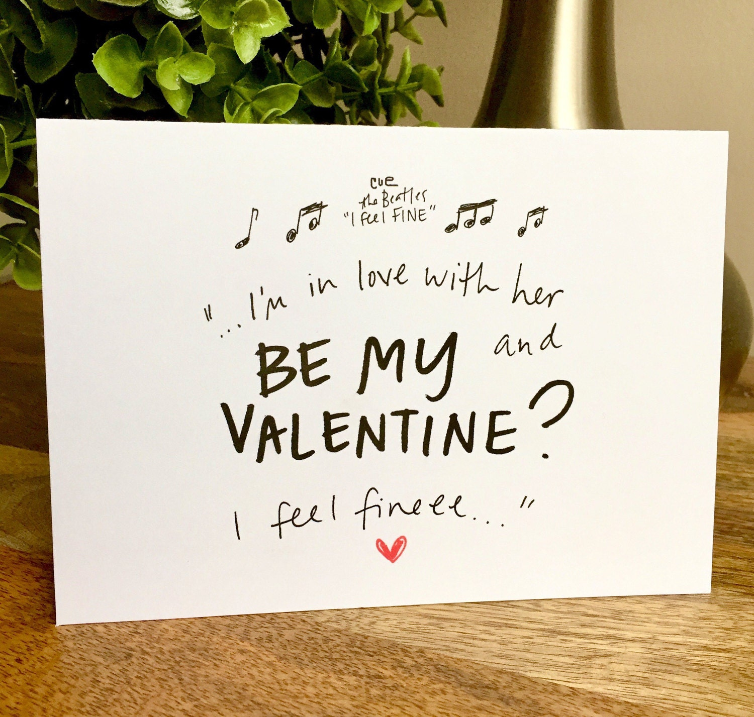Funny Vanlentines Day card for wife be my valentine The Beatles – Wife Valentines Day Card