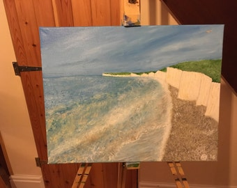 Painting - Birling gap on Boxing Day