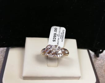10K Baguette Diamond Ring