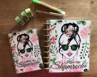 Saint Patrick's Day happy planner covers. Me and by big ideas. Happy planner cover. Classic happy planner. Mini happy planner. Supplies