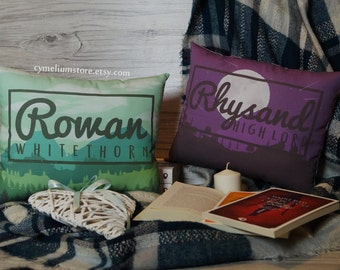 Rhysand, Rowan - decorative pillows hand made and unique - ACOTAR ToG