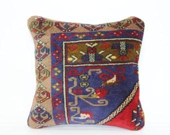 Handwoven Carpet Pillow 20x20 Naturel Rug Pillow Organic Carpet Pillow Home Decor Decorative Kilim Pillow Cushion Cover SP5050-1400