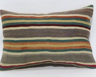 16x24 Naturel Organic Kilim Pillow Sofa Pillow Fllor Pillow Ethnic Pillow 16x24 Bohemian Kilim Pillow Sofa Pillow Cushion Cover SP4060-329