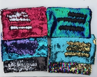 SALE! LAST ONES Color changing sequin mermaid zippered bag