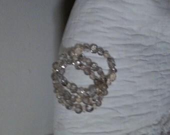 Vintage 3 strand crystal bracelet