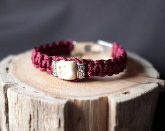 Handmade ceramic beads bracelet.