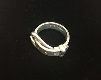 sterling silver belt ring/band, size 6.5, weight 6.1 grams