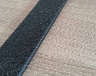 Wooden paddle black / glitter, 50 cm long