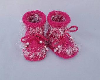 Socks baby booties,knit baby socks newborn gift idea,,baby girls' socks, baby booties girl, kids knit socks gift for baby girl