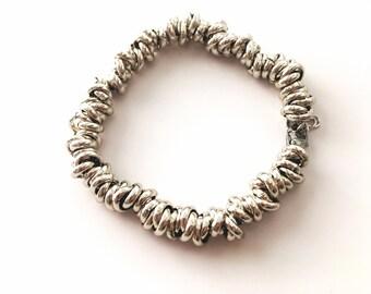 Steel Knot line bracelet