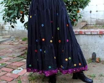 PLUS SIZE magical rainbow hippie mirrored skirt. 1x 2x 3x