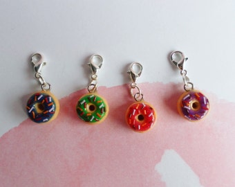 Stitch markers, donuts stitch markers, polymer clay stitch markers, knitting stitch markers, crochet stitch markers, knitting tools