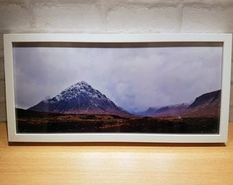 glencoe panoramic framed print gateway to the highlands glencoe mountain range panoramic framed print