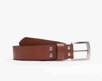 Classic leather belt // Mayakovskiy