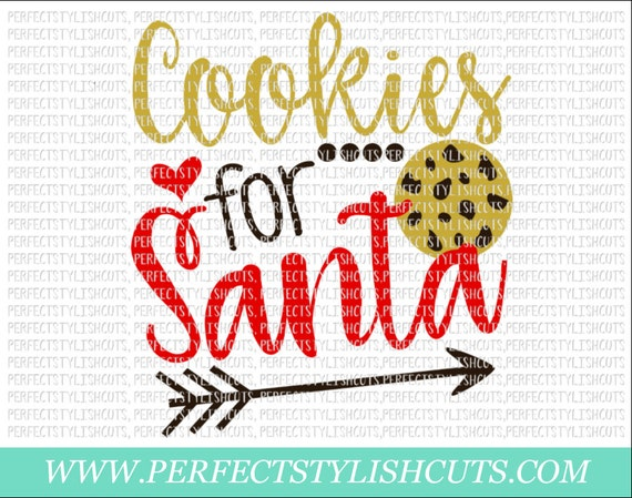 Cookies For Santa Svg Dxf Eps Png Files For Cutting