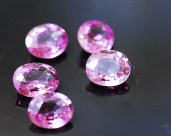 Sapphire Lot, Loose Sapphire, Natural Gemstones,  Delicate Pink Sapphire, Oval Cut Loose Gemstones 3.55ct
