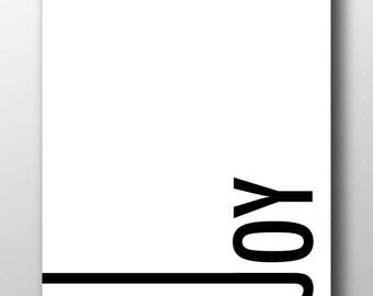Joy,Joy print,Joy printable,Joy poster,Joy art,minimal joy print,joy typography,black and white typography,black and white joy,