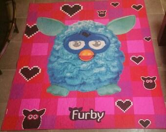 Furby quilt/blanket, Childrens quilt