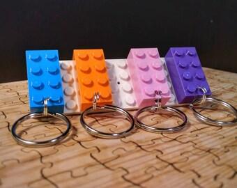 LEGO® key hook with 4 LEGO® brick keychains