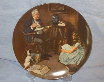 """Norman Rockwell Plate Limited Edition """" The Storyteller"""""""