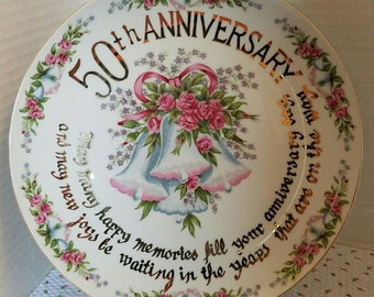 Vintage Japan 50th Anniversary Display Plate