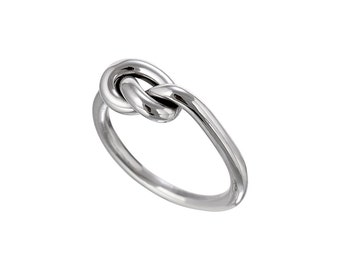 Sterling Silver Handmade Single Knot Ring, Sailor Knot, Love Knot, Friendship Knot, Promise Ring