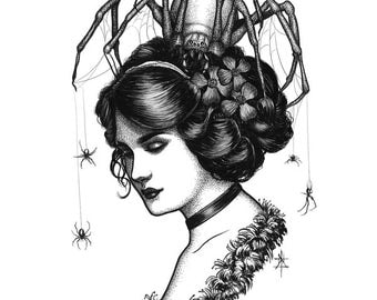 Spiders In Her Hair