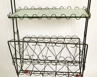 Retro Black Metal Magazine Rack
