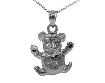 10k Black Gold Teddy Bear Necklace