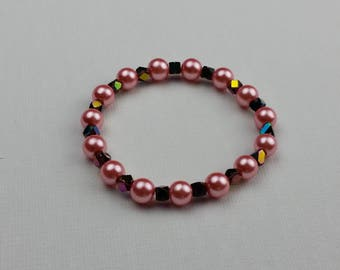 Pink and Multi-color Bead Bracelet
