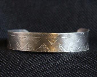 Argentium Etched Bracelet (031217-006)