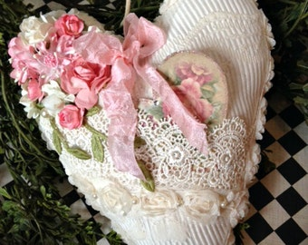 Valentine Heart, Valentine Decoration, Shabby Chic Heart