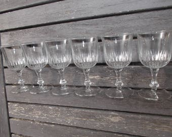 service of 6 shot glasses french - 6 new liqueur glasses from the 1970s - small liqueur glasses