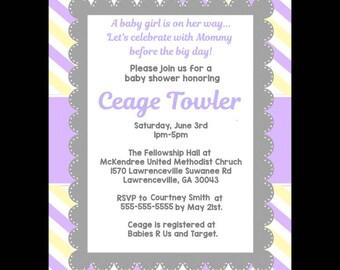 Printable Chevron Baby Shower Invitation