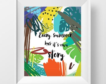 Home Decor Wall Hangings how to curate a gallery wall curbly diy design decor Summer Wall Art Wall Art Printablesummer Quotes Poster Downloaddigital Download Art