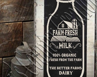 Farm Fresh Milk   SVG, PNG, JPEG