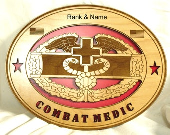 3D Combat Medic engraved and personalized