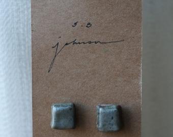 Ceramic Earrings, Ceramic Stud Earrings, Earthy Light Green, Earthy Earrings, Handmade Earrings, Clay Earrings, Handmade Stud Earrings