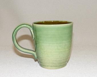 Tall Green Soup or Coffee Mug