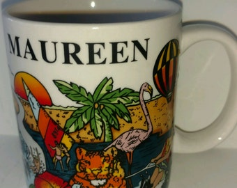 Personalized Coffee Mug for Maureen from Florida Travel Souvenir