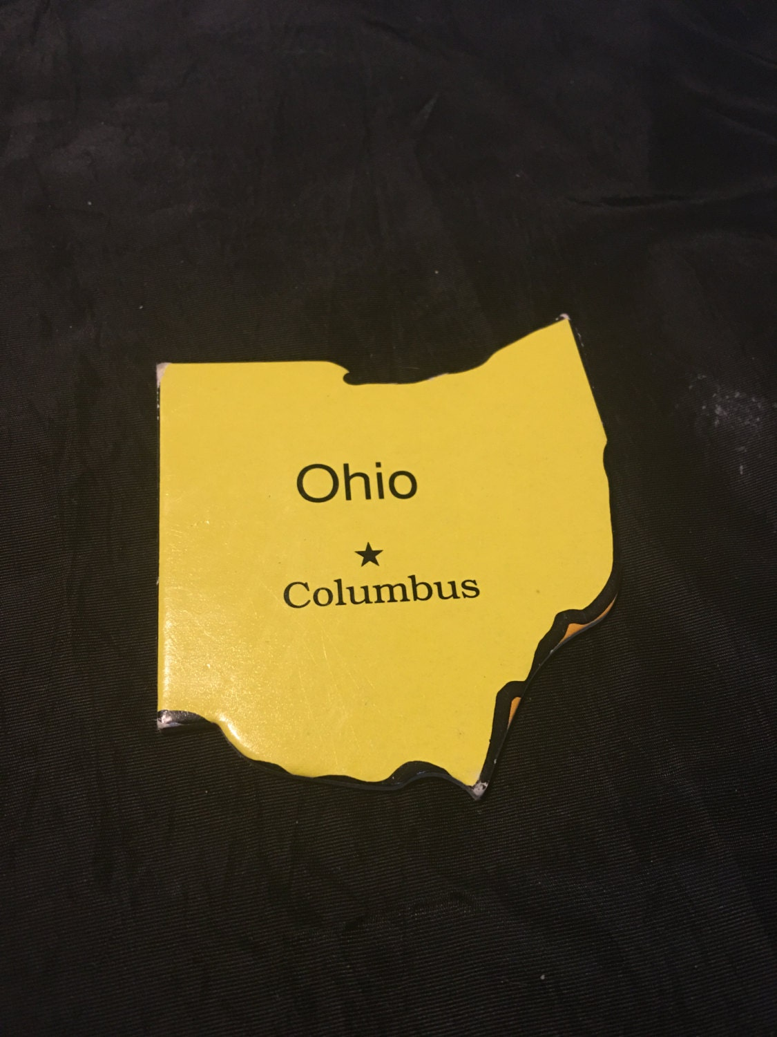 State of ohio craft scrapbook embellishments puzzle piece for Decoration or embellishment crossword