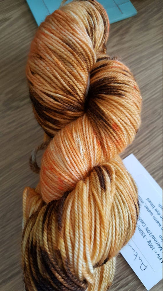 100g 4 Ply Merino Cashmere Nylon Sock Yarn Autumn Leaves