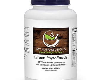 """My Nutraceuticals """"GREEN PHYTOFOODS"""" - 30 Whole Food Concentrates and Standardized Herbal Extracts / Dietary Supplement Free Shipping!"""