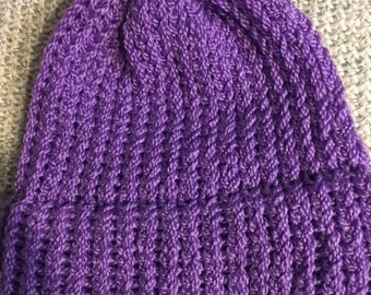 NEW ITEM! Handmade Purple Winter Hat