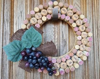 Handmade Wine & Champagne Cork Wreath