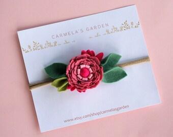 Flower Headband/Crown-Baby/Toddler/Child/Adult Headband-Pink