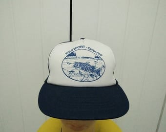 Rare Vintage WESTPORT ONTARIO Cap Hat Free size fit all